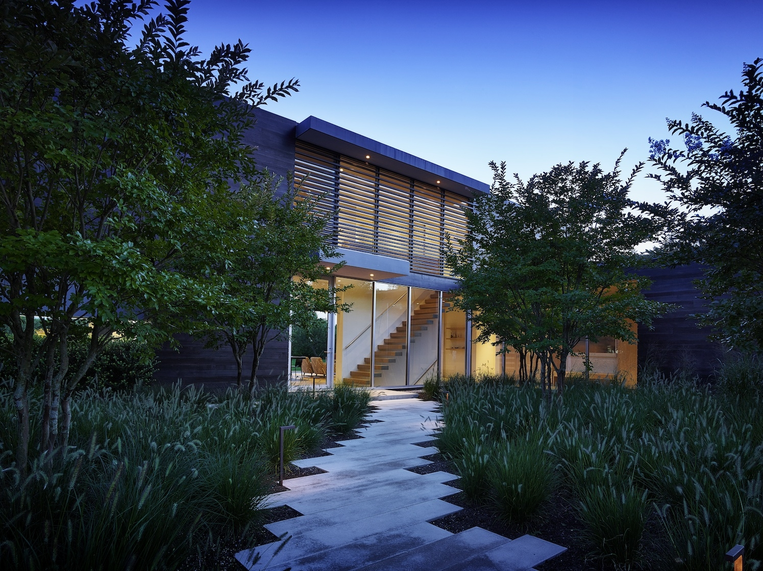 Sagaponack Modern House Entry