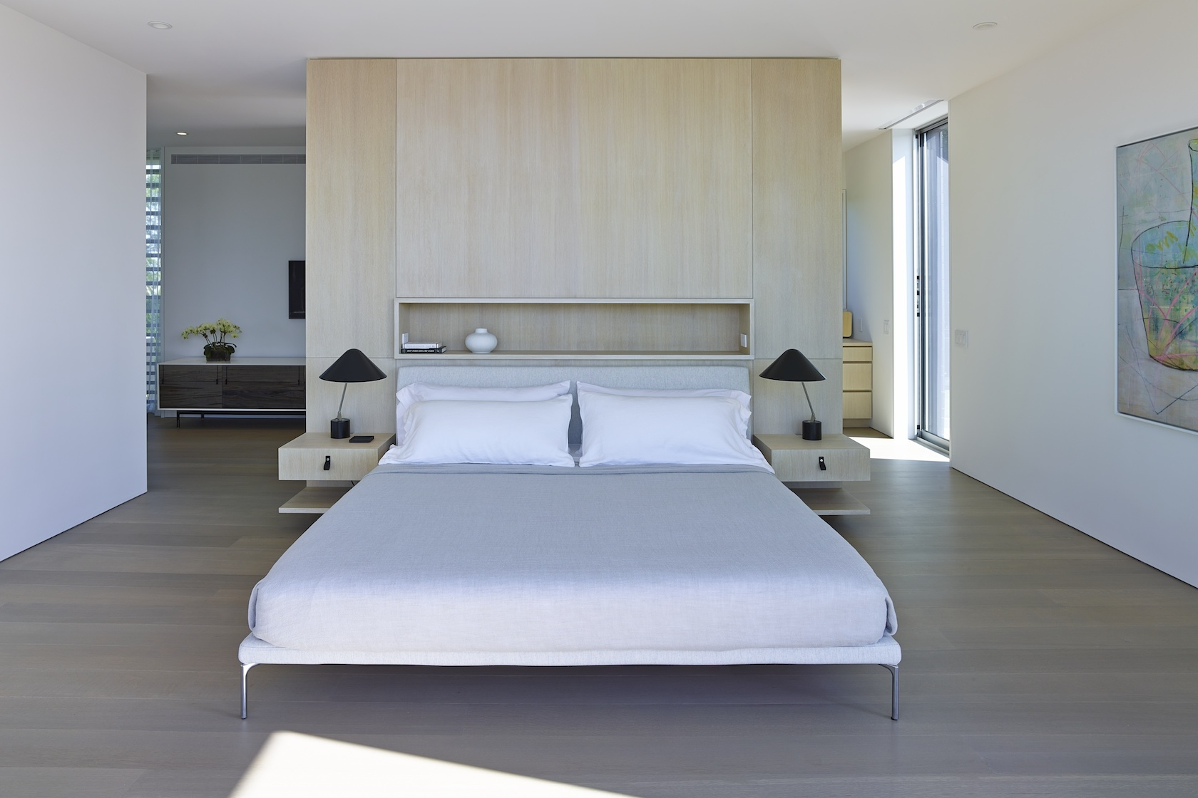 Sagaponack House Modern Master Bedroom