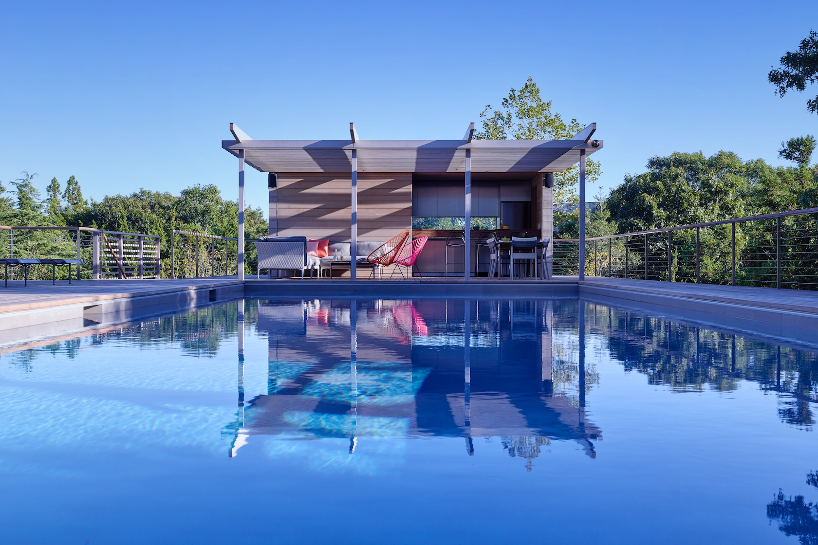 SLR Architects Amagansett Modern Residence Cabana Pool House