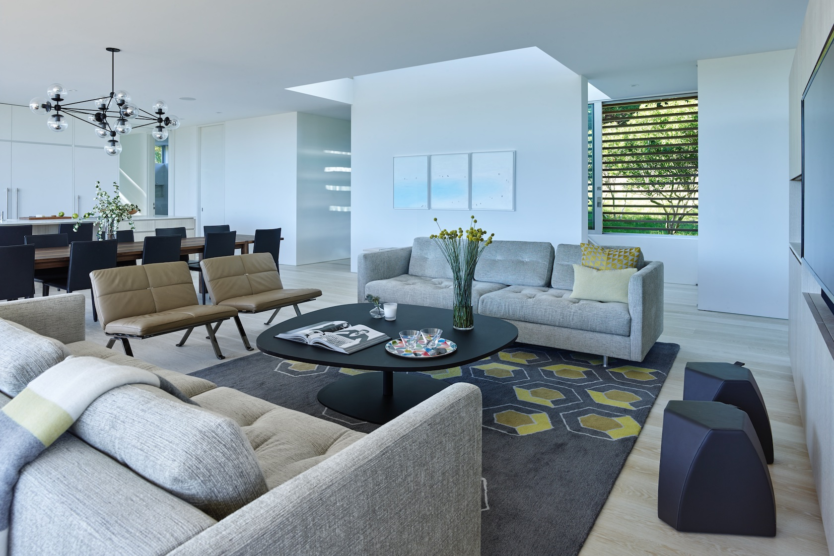 SLR Architects Amagansett Modern Residence Living Room
