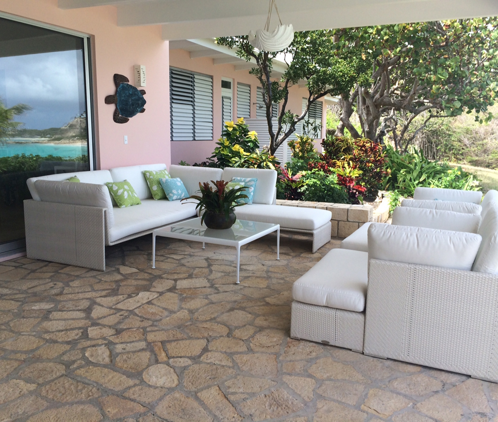 Antigua, St. Johns, Modern House Interior Design Patio