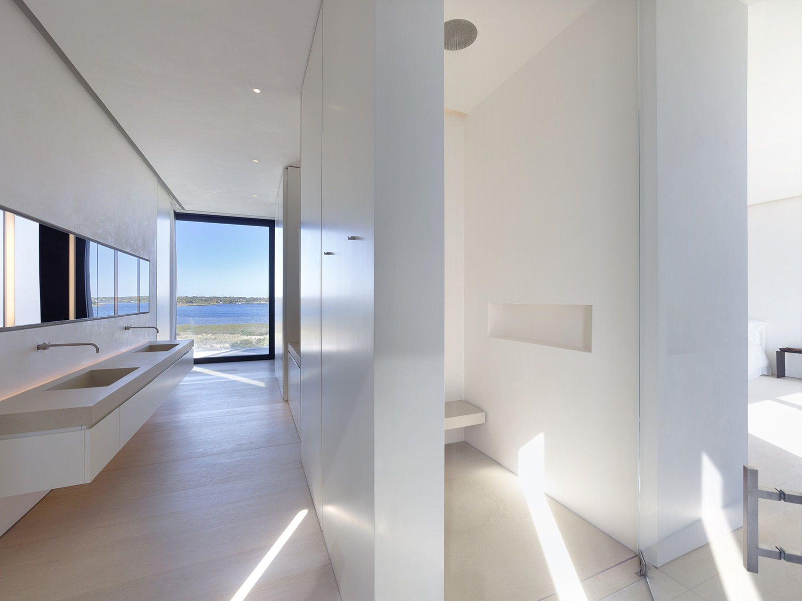 bath, bathroom, minimal, ocean view