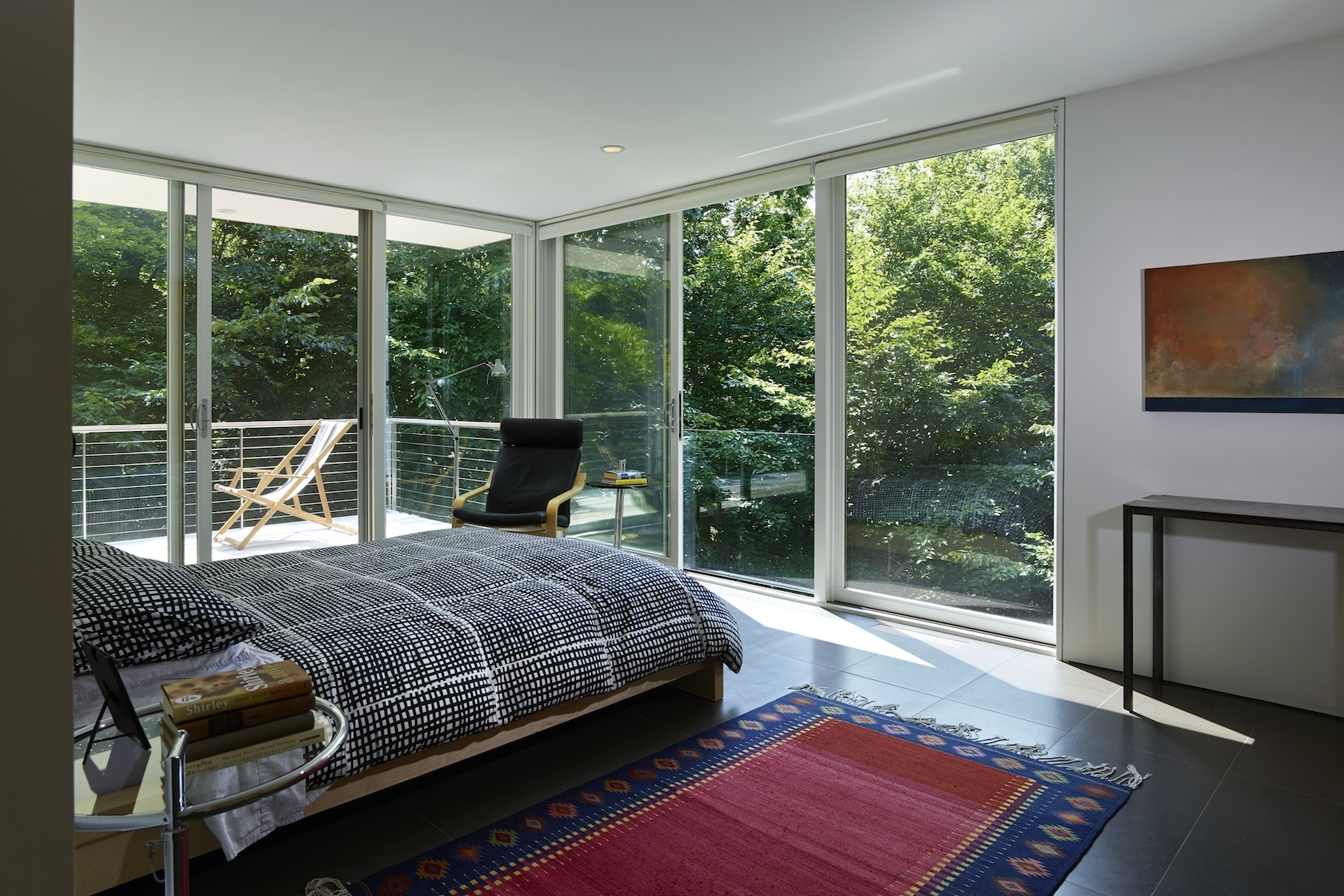 Amagansett, NY Modern Green Sustainable House Master Bedroom