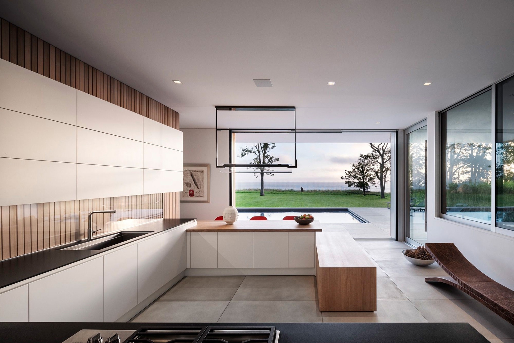 SLR Architects House On The Bluff Modern Kitchen