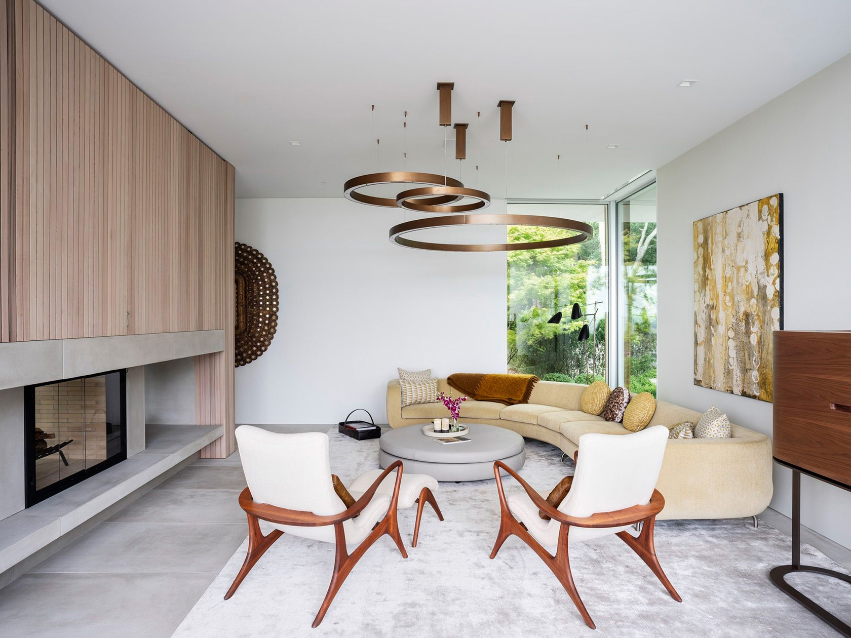 SLR Architects House On The Bluff Modern Living Room