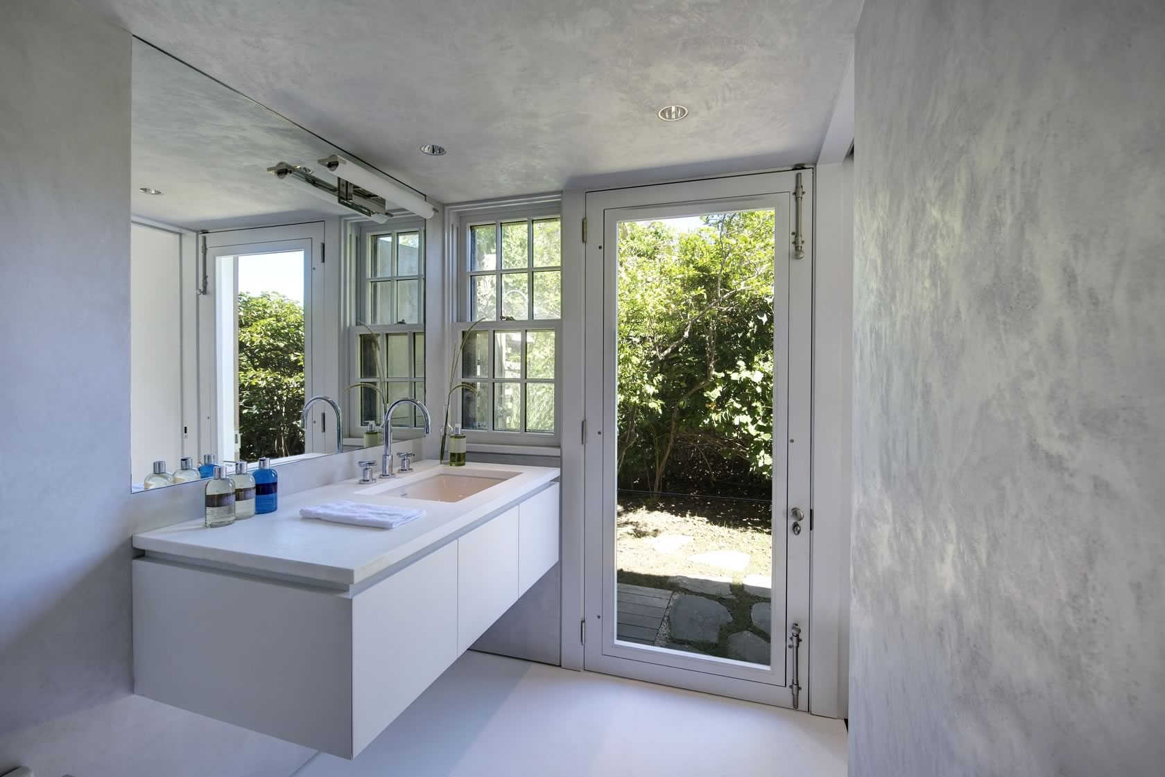 Montauk NY Modern Interior Design Cottage Bathroom