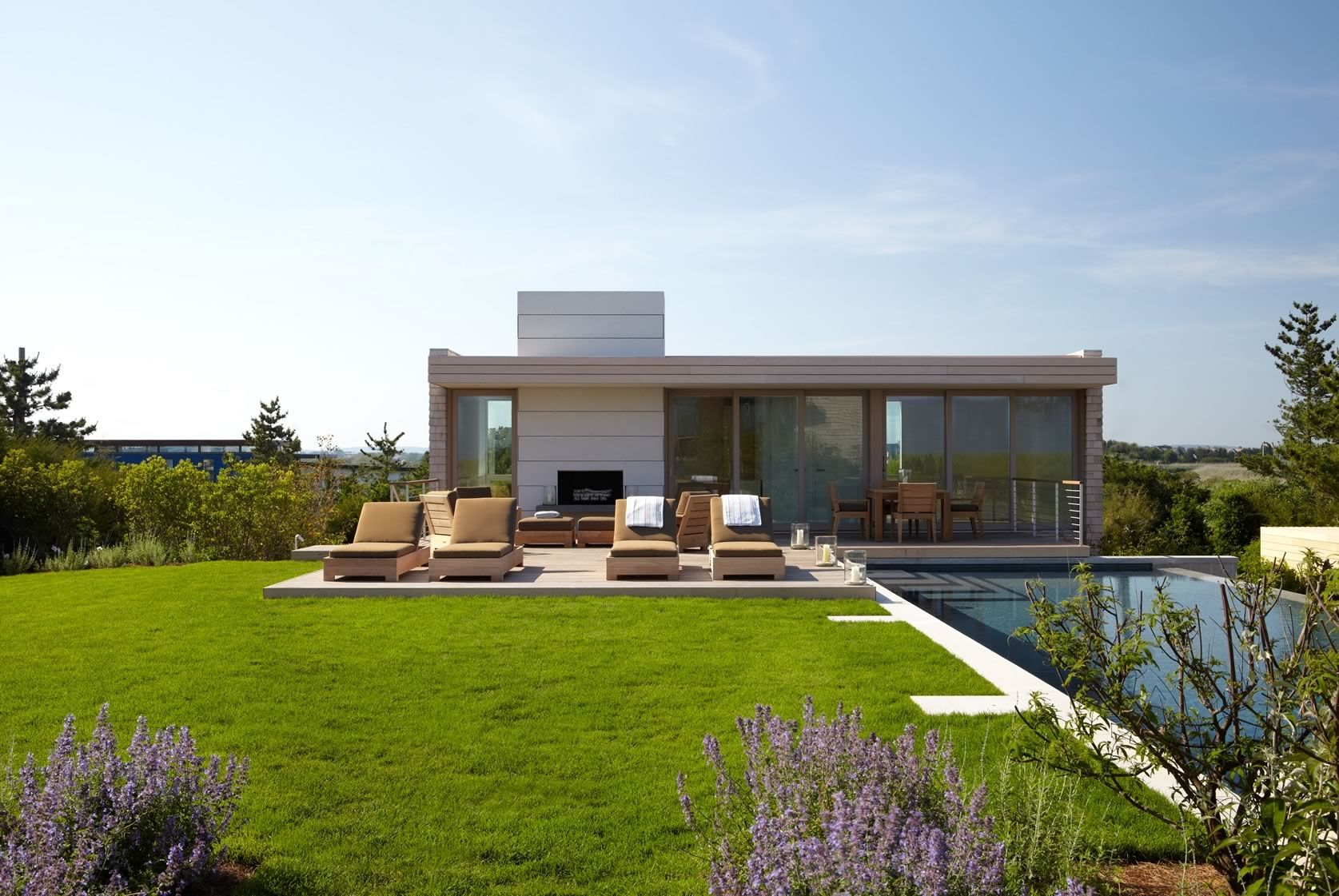 Pool House Spaces Stelle Lomont Rouhani Architects