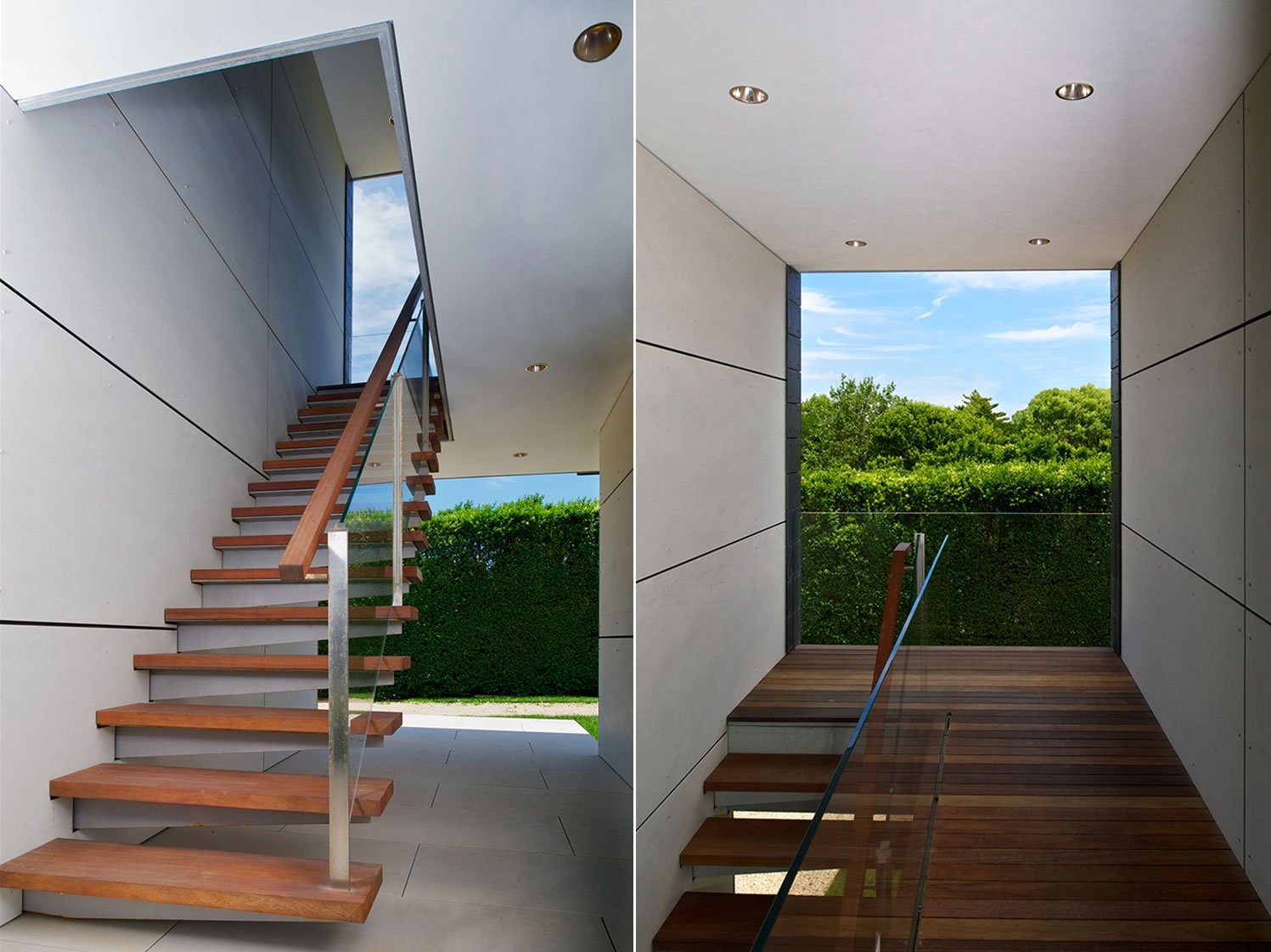 Bridgehampton, NY Modern Guest House Stairs